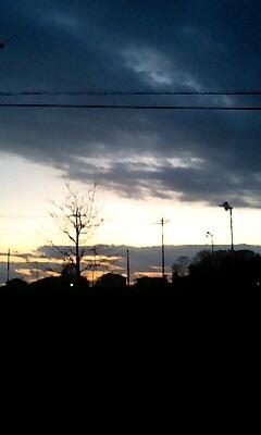 日が暮れる…