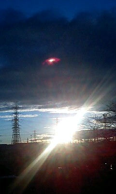 朝焼け→日の出